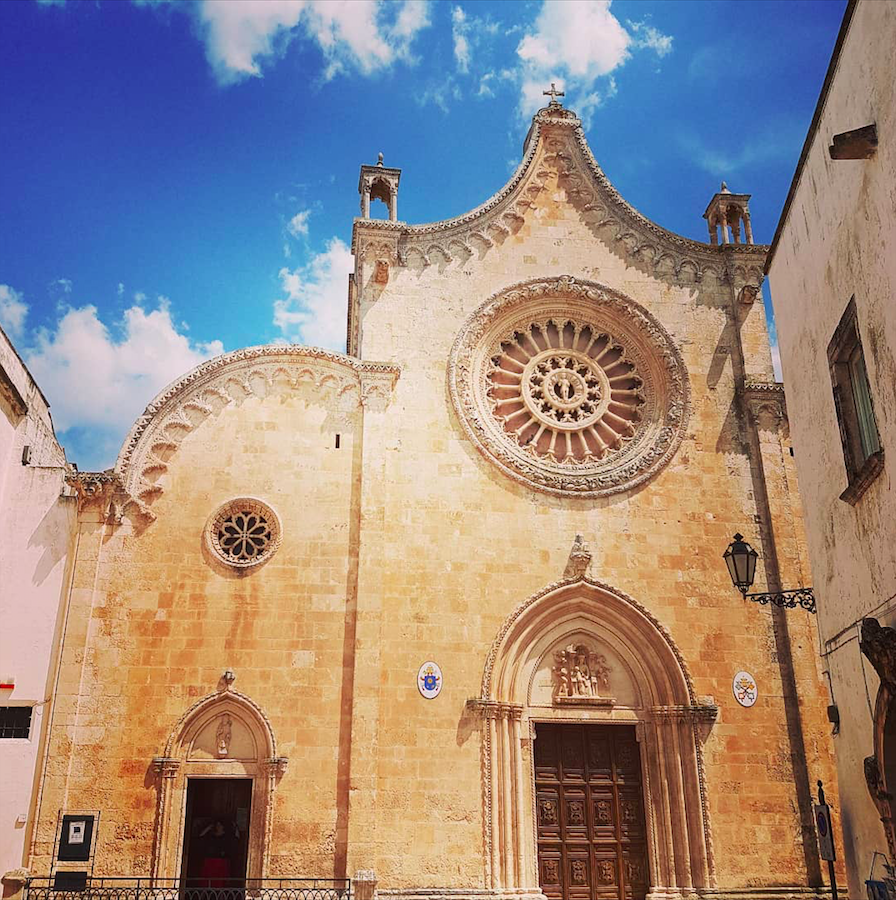 Facade of Ostuni Cathedral